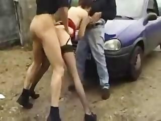 French Slut Likes It In Public