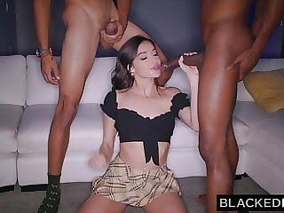 BLACKEDRAW BBC – thirsty Emily Willis takes on 2 huge cocks