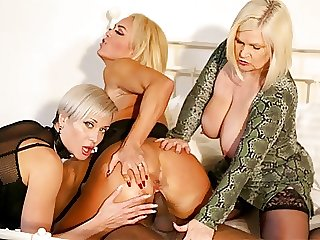 GRANNYLOVESBLACK - 3 Whores And A Black Stud