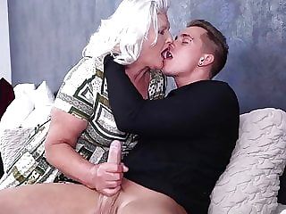Granny blows and fucks young pervert boy