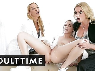 Virgin Squirts Lead to Blonde Threesome - ADULT TIME