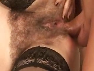 Unshaved Mature In Stockings Gives bj And additionally Bangs