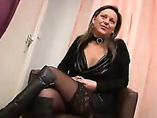 Hot french MILF in boots fucked in all h - Date her on MILF-