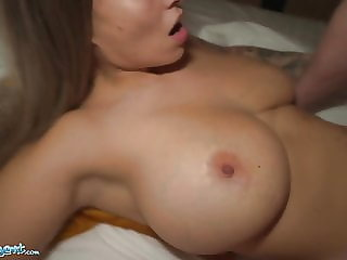 Public Agent – Dominno and her Big Tits Fucked in Hotel Room
