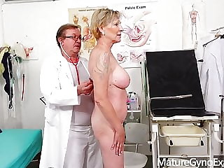 Hairy mature pussies examined by kinky doctor