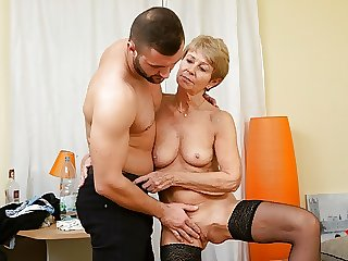 MATURE4K. Mature maid dragged into sex with handsome guy