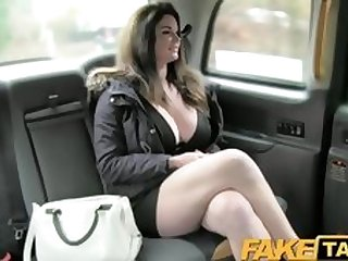 FakeTaxi Big tits and sexy eyes takes cock