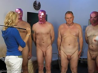2 young Mistress Humiliate 4 grown up Slaves (Femdom)