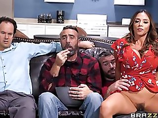 Horny Latina Ariella Ferrera Fucking Her Husbands Friend