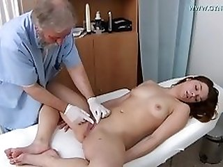 Darkhaired Needs Gyno Exam - Loreen Stegal
