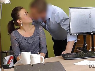 LOAN4K. Naughty lassie passes special porn casting at l...