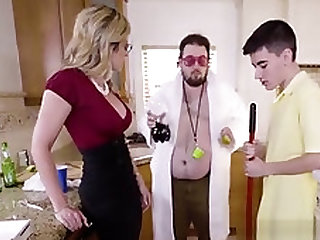 Chesty Cougar Cory Chase Devours Stepsons Cock