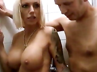 Delightful Busty MILF Shares Shower With New Insurance Agent