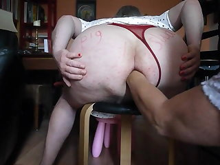 Plump Tush sissy gets Fisted by Mistress in Gaping Fuck hole hole