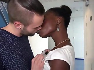 J&M - French cute ebony fisrt time on camera