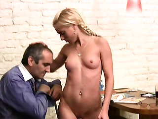 Pleasing hotty gets a drilling from lewd elderly teacher