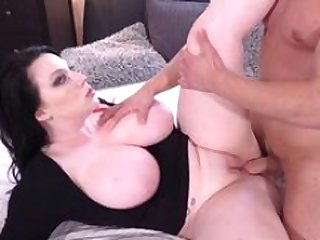 MOM Large busty British Sexually available mom in black evening dress fucked by her toyboy