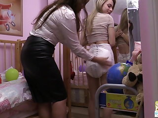 Betty changes Chloe's oozy Attends Specific Care diaper