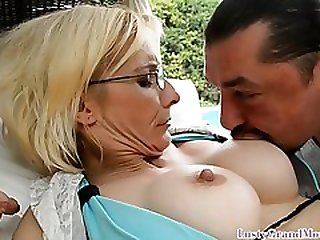 Bigtits Grandma Getting Her Ass Slammed