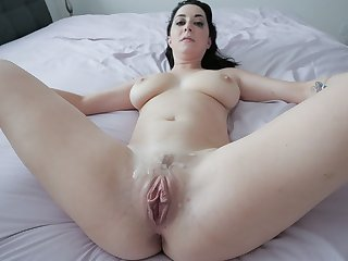 Stepsons hard dick fucks stepmoms tight twat