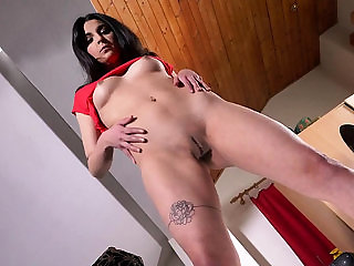 Nasty czech cutie opens up her spread quim to the stran...