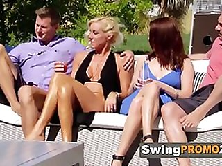 Swinger Couples Commence A Fresh Swinger Contest In A Reality Demonstrate Wag Mansion On National TV