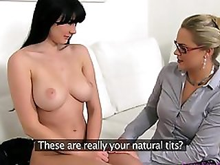Lesbian Action During Interview - Barra Brass