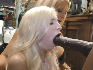 Large breast mommy sold step daughter to monster black cock shop owner
