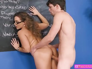 Teacher Natasha gets fucked by Alex D on the table