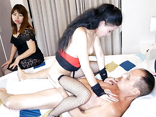Thai wife watches Farang husband fuck a calll girl