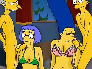 Simpsons porn cartoon parody