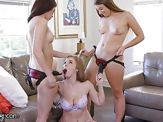 GIRLSWAY High School Bully Lena Paul DP'd by Jane & Gia!
