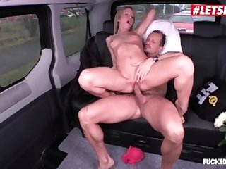 LETSDOEIT - Naughty Blonde Teen Seduced and Fucked In The Back Of The Taxi