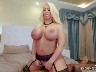 Big boob milf strap on Milf Fucks The Gardener