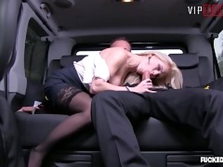 Fucked In Traffic - Big Tits Blonde Teen Rough SEX In Taxi - VipSexVault