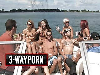 3-Way Porn - Speedboat Group Orgy - Part 1