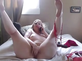 Mischievous curvy blonde Anna with great ass into role play