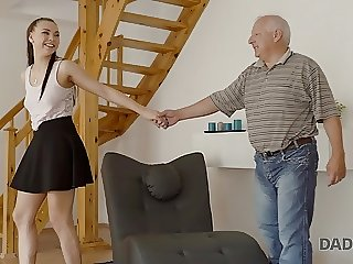 DADDY4K. Fat old man cant resist in front of beautiful young