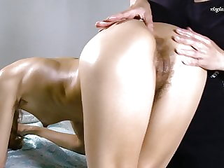 Volosatik being virgin pussy massaged