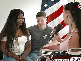 German street porn casting with black college teen