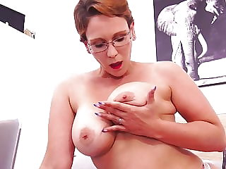 Mom next door with big tits and hungry cunt