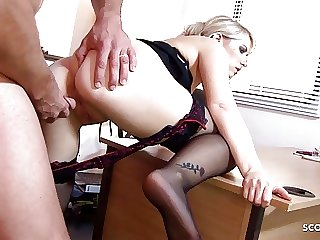 Hot Desperate Female Boss Seduce Big Dick Worker to Fuck