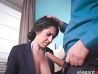 Busty Businesswoman Sucks And Fucks Big Cock In Anal Office