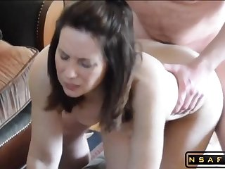 Skinny milf fucked in multiple positions by her hubby