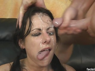 naughty babe brutal sex and bukkake