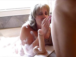 Cum Bath! ( With Long Porn Nail's )