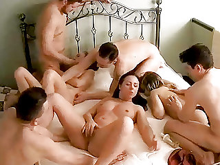 Massive Amateur Teenage Orgy, Swinger Action on Hidden Cam